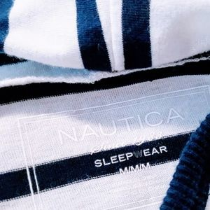 Nautica Intimates & Sleepwear - Nautica Dark Blue Striped hooded chemise M🆕🦄